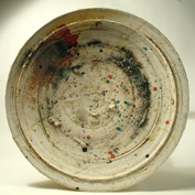 Large plate with splashes 48cm diameter